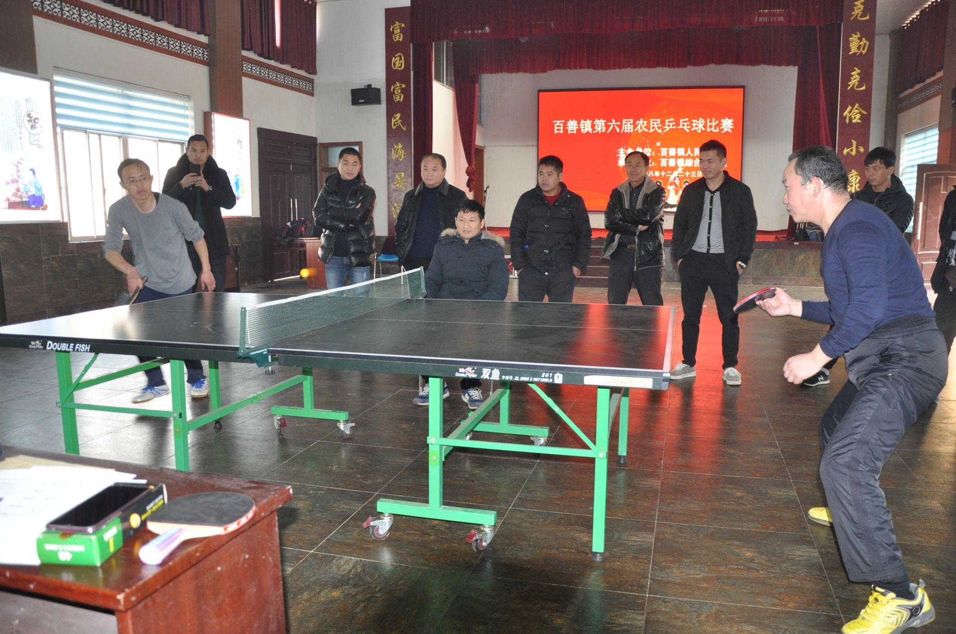 百善镇举办第六届农民乒乓球赛